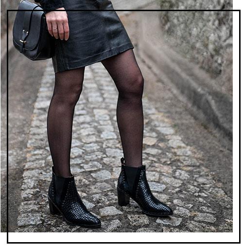 Un total look noir avec les boots nacima