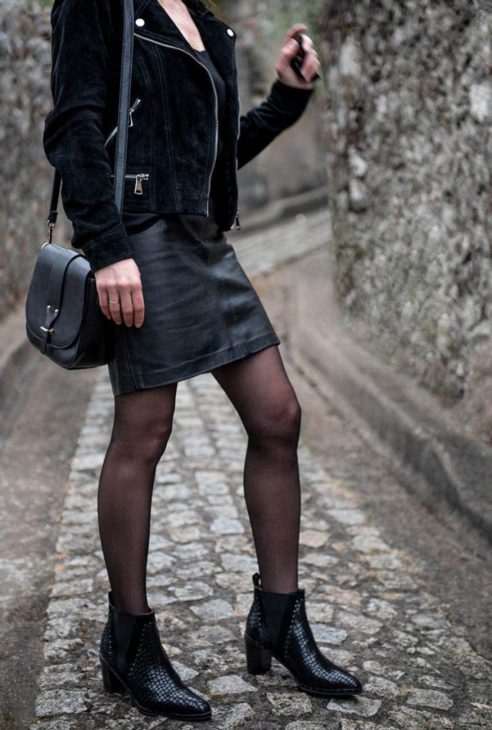 optez pour un total look noir avec les boots nacima